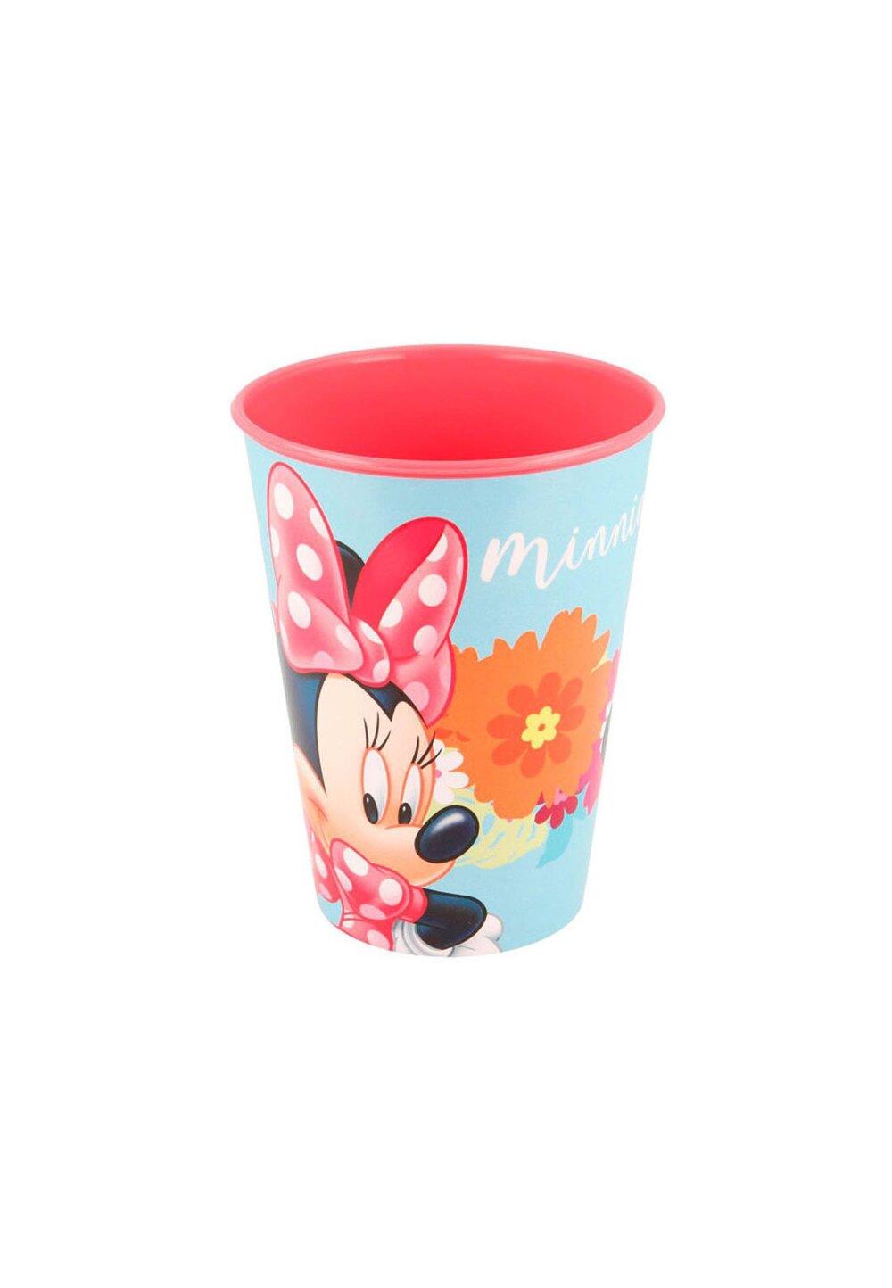 Pahar, Minnie Mouse flowers, turcoaz imagine