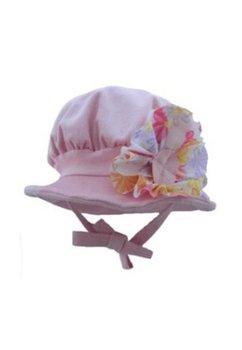 Palarie, catifea raiata, roz deschis