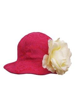 Palarie, rosie cu floricica