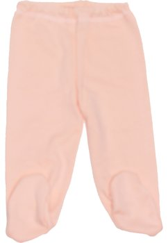 Pantaloni bebe cu botosi portocaliu deschis