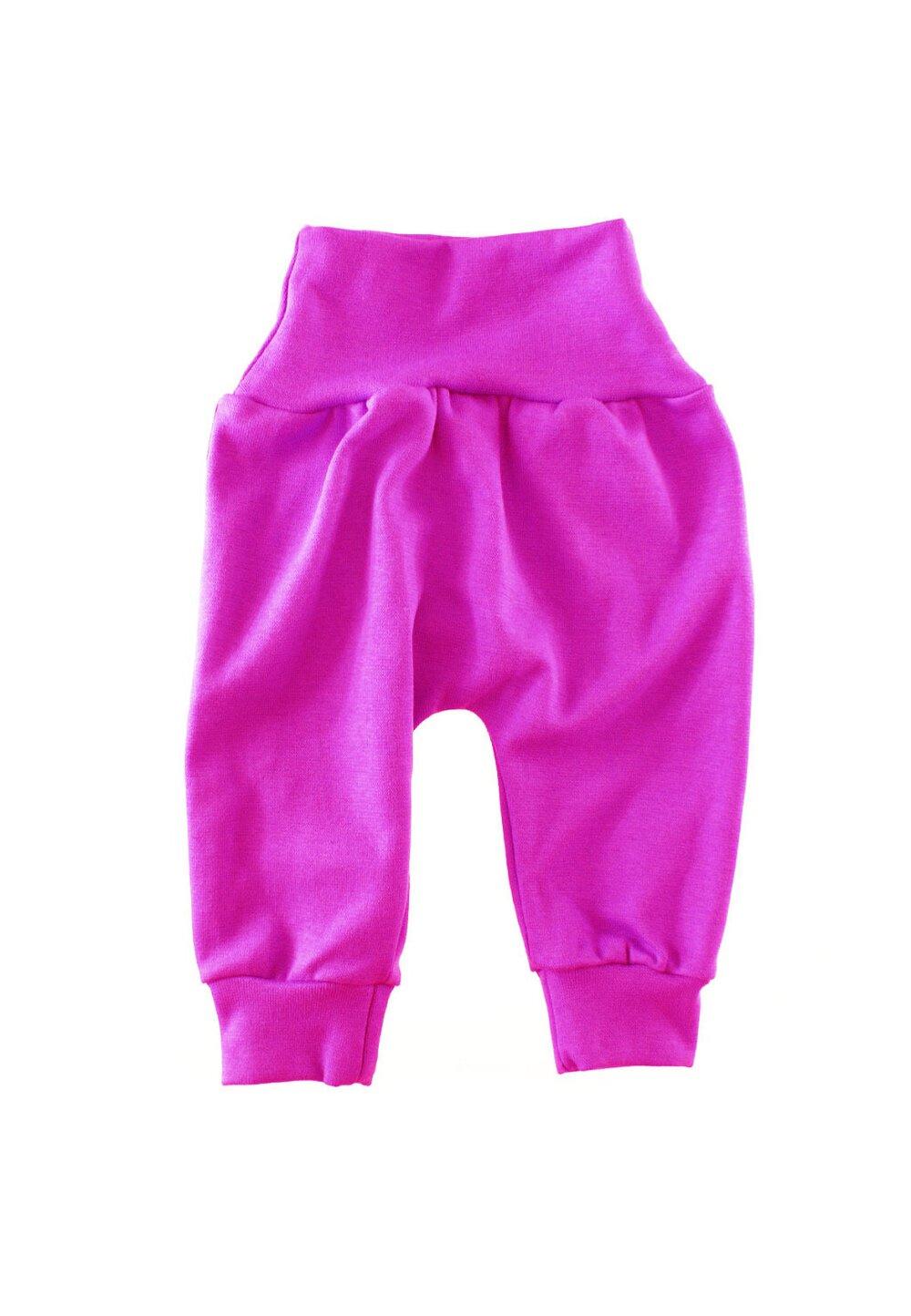Pantaloni bebe, roz inchis P116 imagine