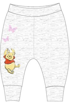 Pantaloni bebe, Winnie cu fluturasi, crem