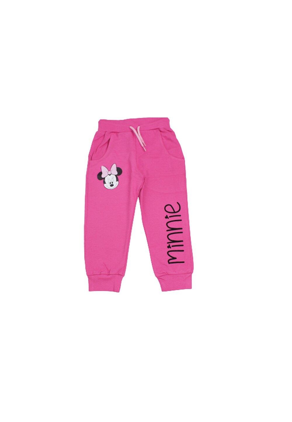 Pantaloni de trening, Minnie cu fundita, roz