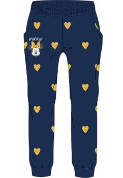 Pantaloni de trening, Minnie Mouse, bluemarin cu inimioare aurii