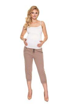 Pantaloni gravide 3/4, maro