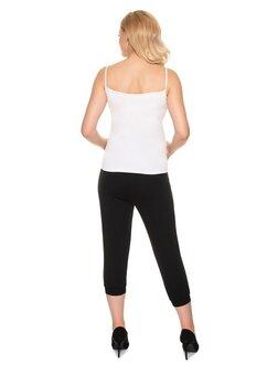 Pantaloni gravide 3/4, negri