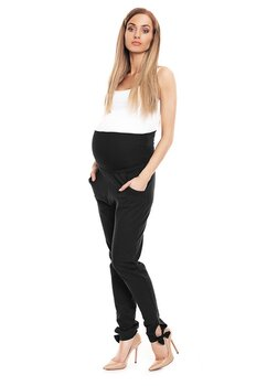 Pantaloni gravide cu fundita, Work, negri