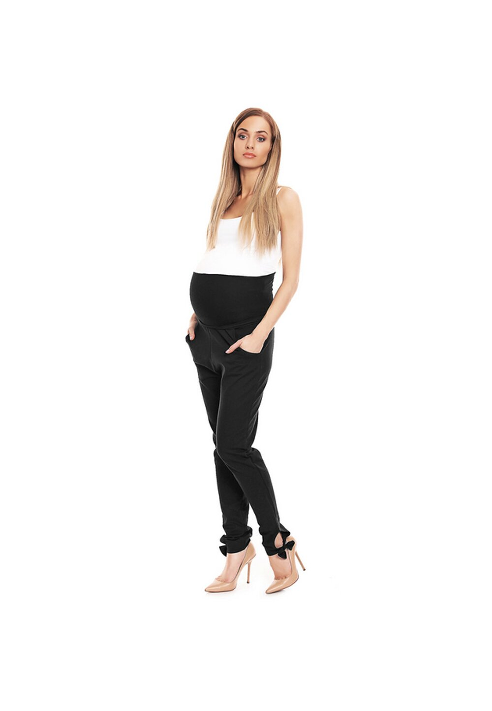 Pantaloni gravide cu fundita, Work, negri imagine