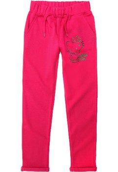 Pantaloni trening flausati HK roz 3055