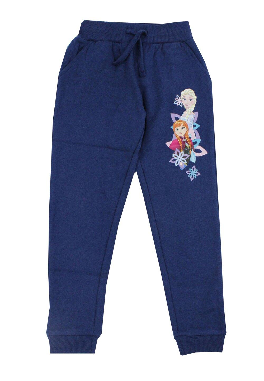 Pantaloni trening, Frozen, albastri cu buzunare