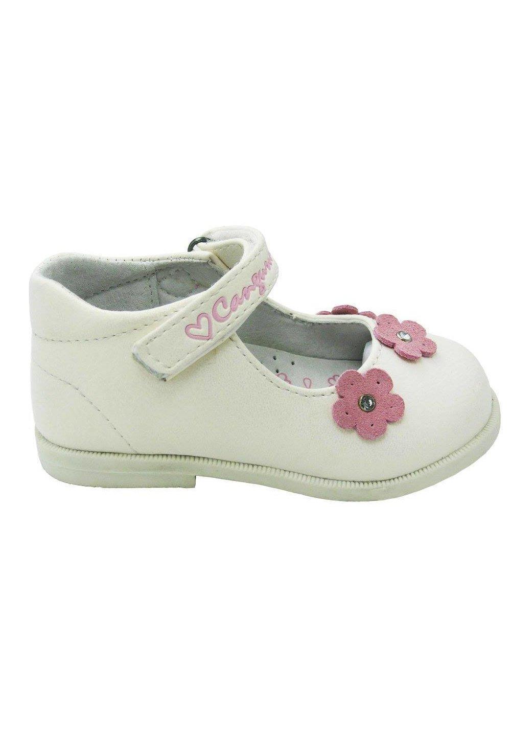 Pantofi, alb perlat, floricica imagine