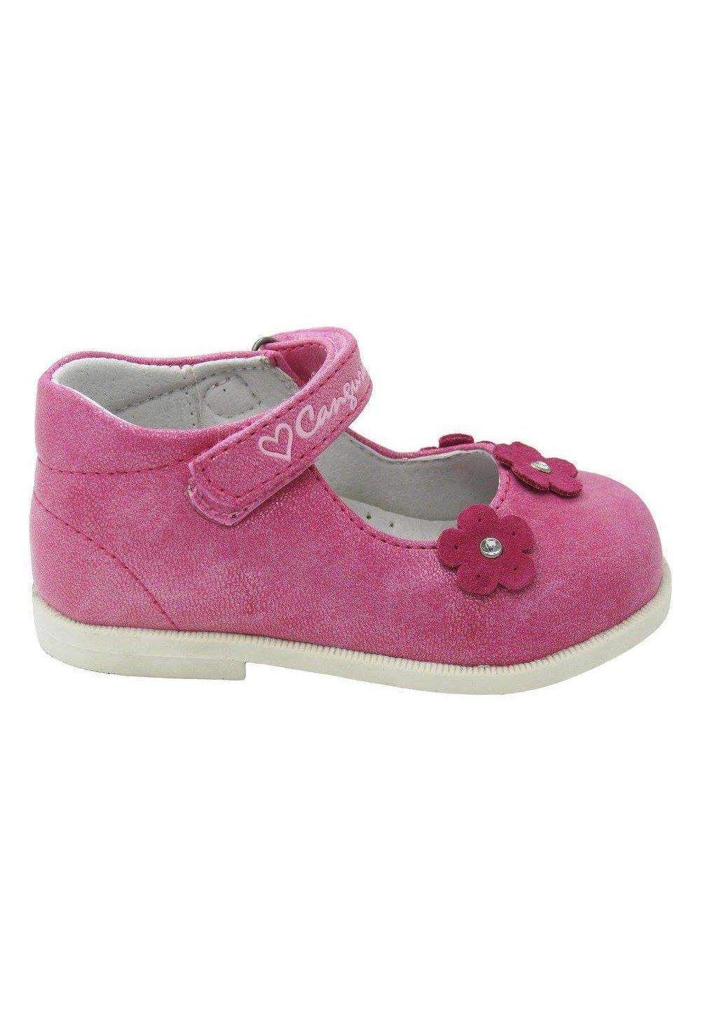 Pantofi fete, roz cu floricele imagine