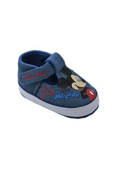 Pantofiori bebe, jeans, Mickey Mouse