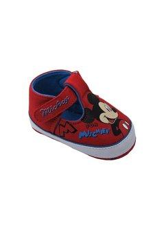 Pantofiori bebe, rosii, Mickey Mouse