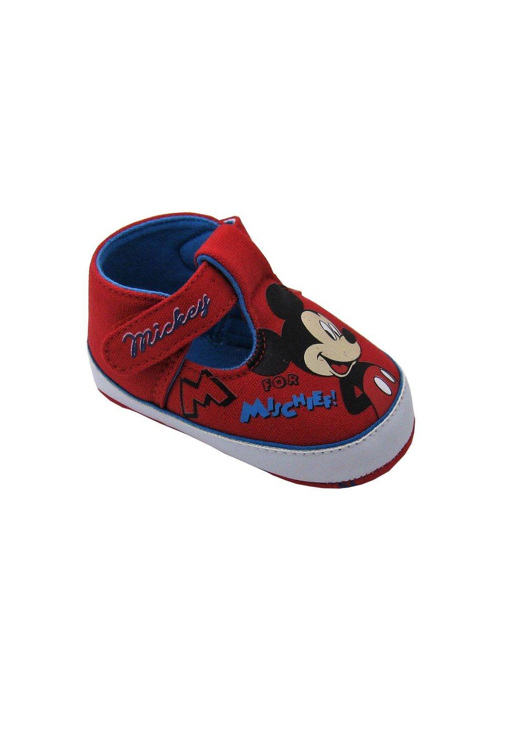 Pantofiori bebe, rosii, Mickey Mouse imagine