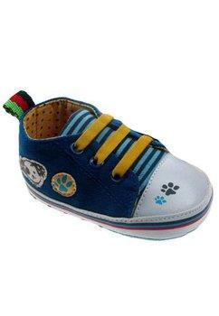 Papucei bebe, albastri, cu labute