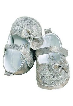 Papucei bebe, argintii