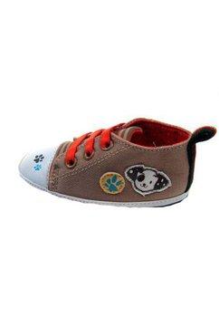 Papucei bebe, crem, cu labute