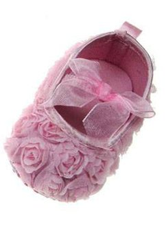 Papucei bebe, cu elastic si fundita, roz deschis