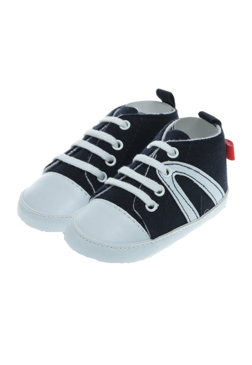 Papucei bebe din blug, albastri imagine
