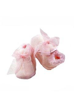 Papucei bebe, July, roz cu blanita