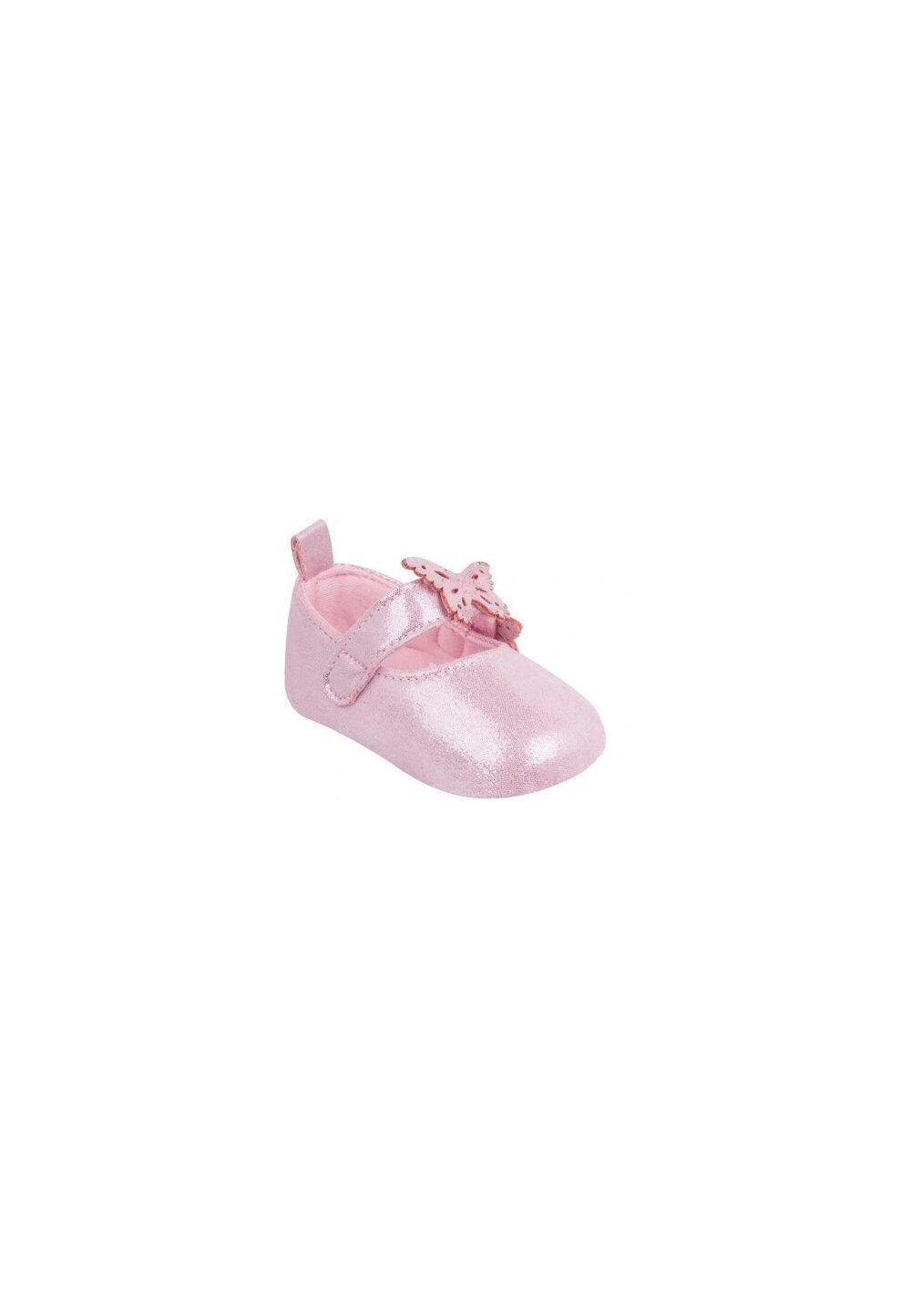 Papucei bebe, roz cu fluturasi imagine