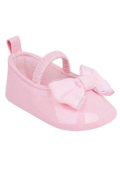 Papucei bebe, roz cu fundita roz