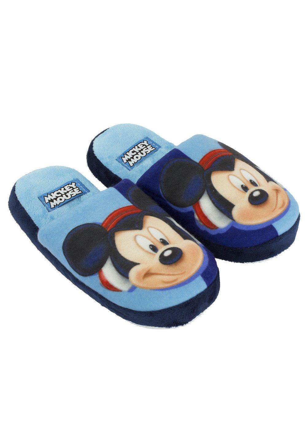 Papuci de casa albastri, Mickey Mouse