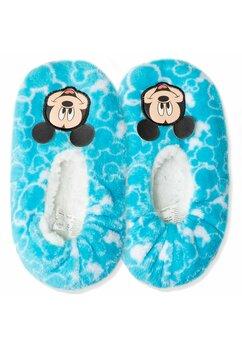 Papuci de casa cu blanita, Mickey Mouse, albastru