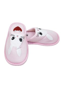 Papuci de casa, iepuras stralucitor, roz