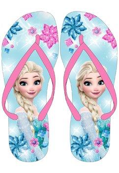 Papuci de plaja, roz cu albastru, Elsa