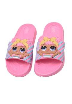 Papuci fete, LOL, roz cu albastru deschis