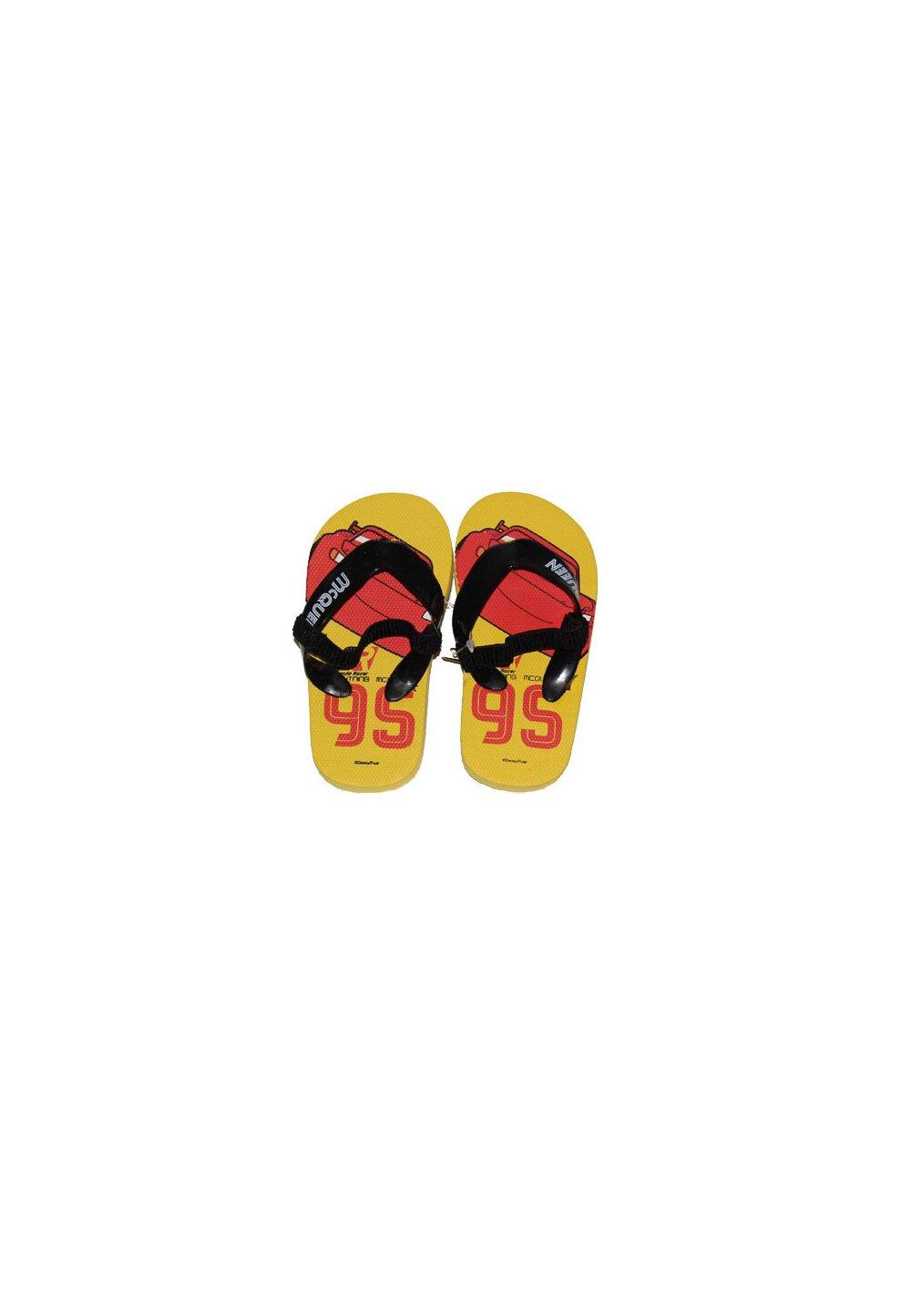 Papuci flip-flop, Fulger Mcqueen, galbeni imagine
