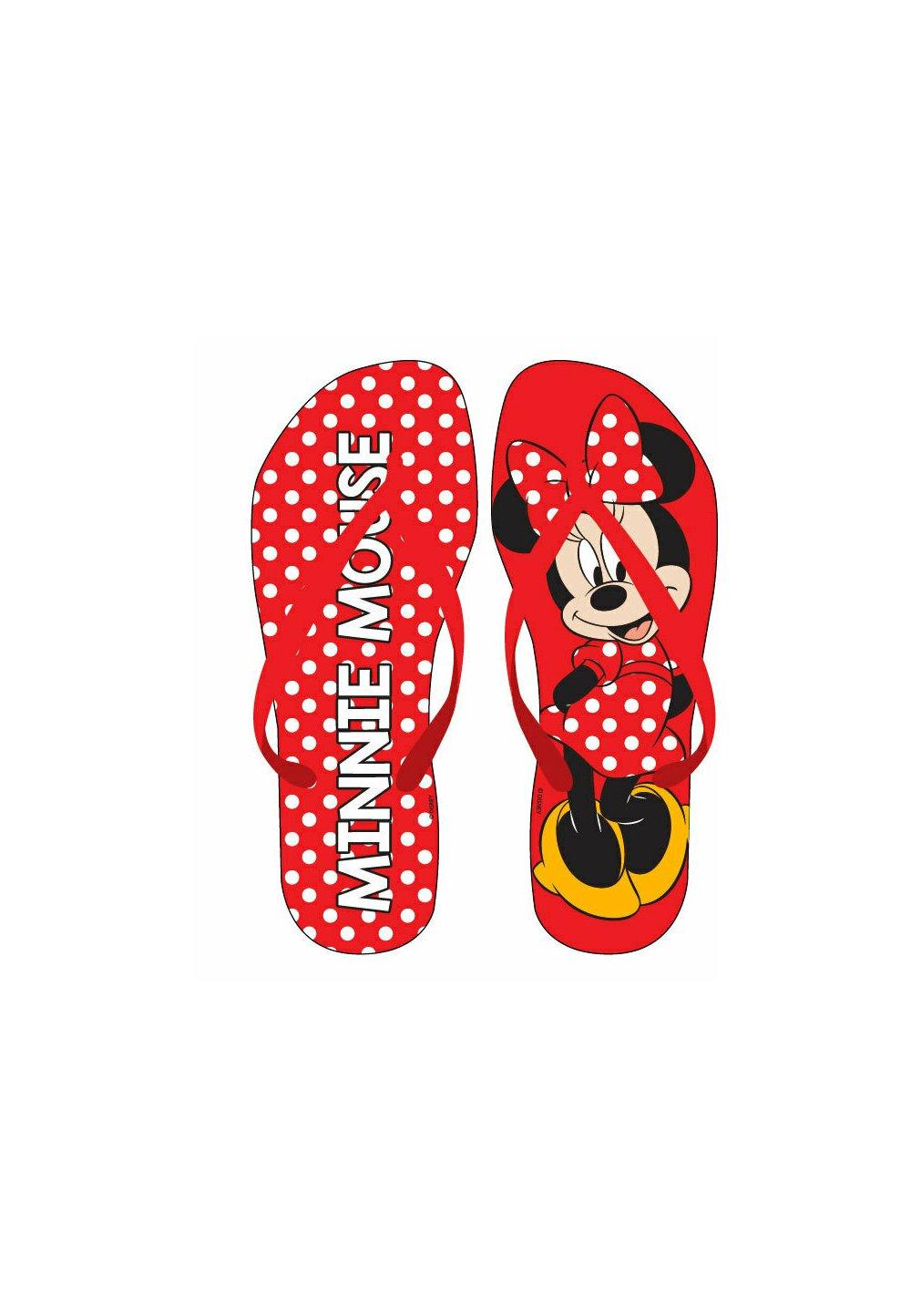 Papuci flip-flop, Minnie cu buline rosii imagine