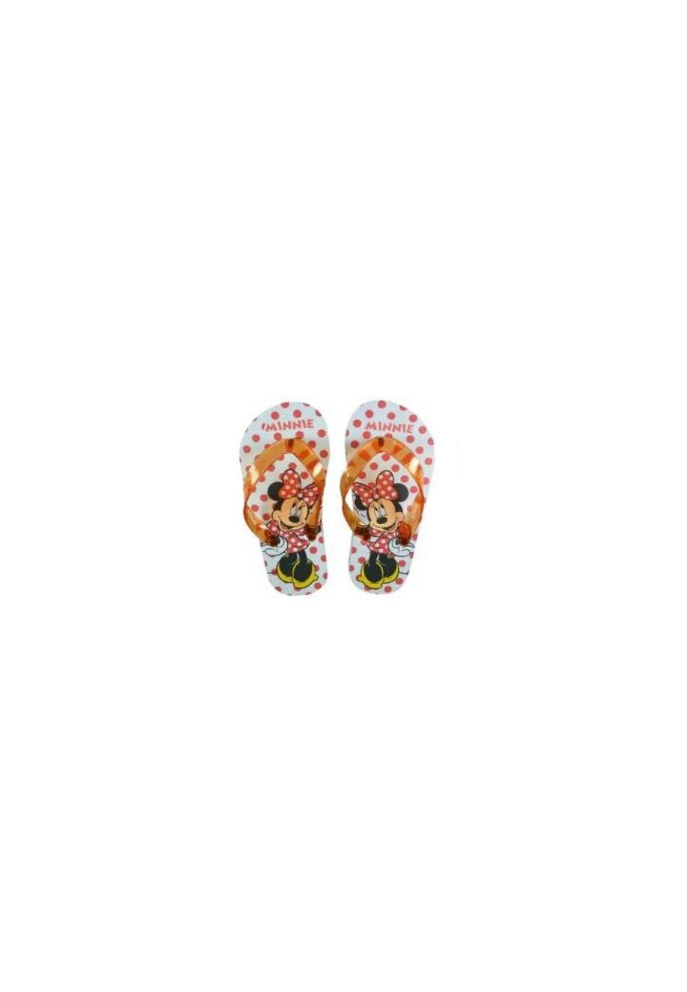 Papuci flip-flop, Minnie, cu buline rosii imagine
