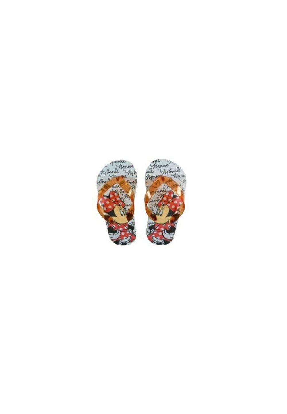 Papuci flip-flop, Minnie Mouse cu fundita rosie imagine