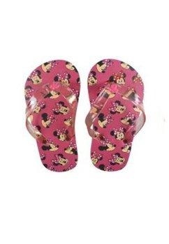 Papuci flip-flop, Minnie, roz cu figurine