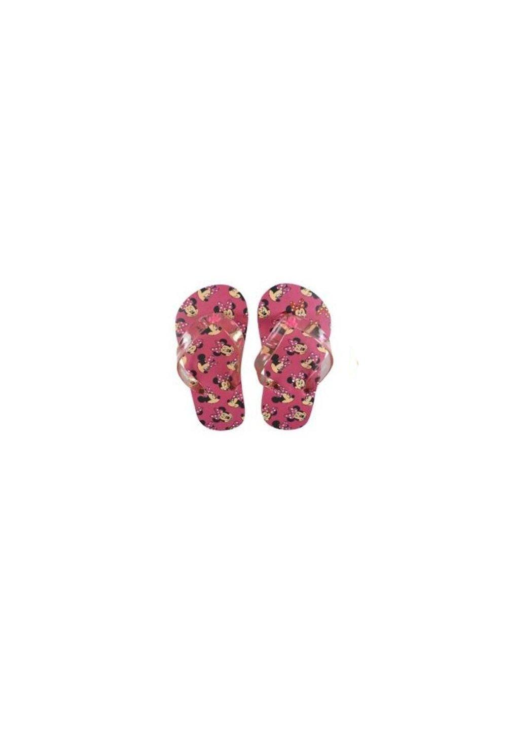 Papuci flip-flop, Minnie, roz cu figurine imagine