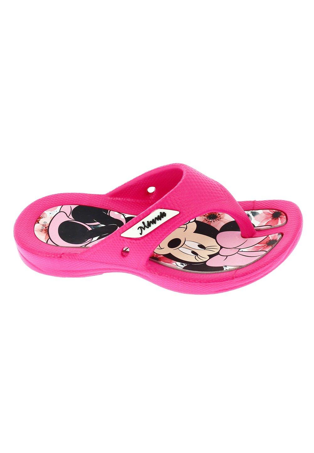 Papuci flip flop, Minnie , roz inchis imagine