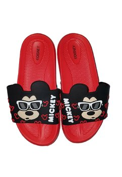 Papuci, Mickey cu ochelari, rosii