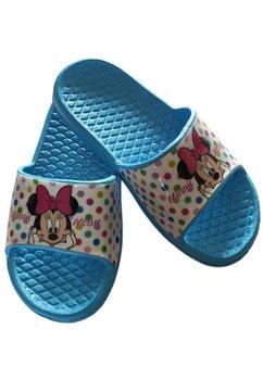Papuci, Minnie Mouse, albastri cu buline