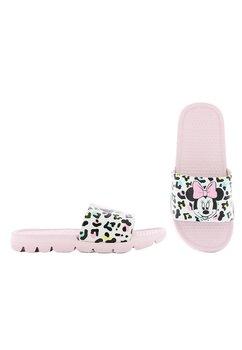 Papuci, Minnie Mouse, roz cu alb