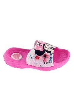 Papuci, roz cu flori, Minnie Mouse
