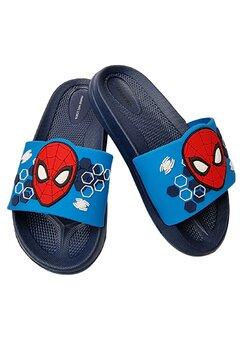 Papuci, Spider Man, bluemarin cu figurina rosie
