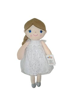 Papusa, Konstancja, cu rochie alba cu sclipici