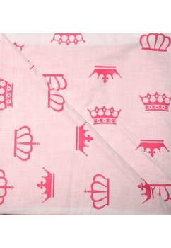 Paturica 2 fete, Minky roz, coronite