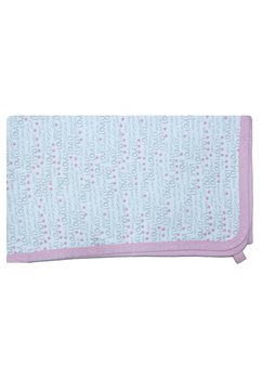 Paturica bumbac, alba cu gri si roz, Lovely, 80x90cm