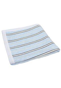 Paturica bumbac, albastra cu dungi, 70x82cm