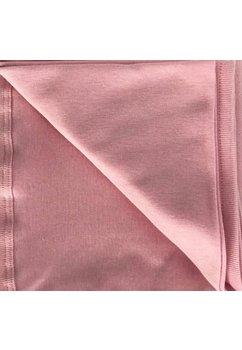 Paturica bumbac bebe, roz, 80x90 cm
