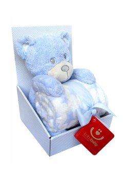 Paturica cu ursulet, albastru cu stelute, 75 x 100 cm